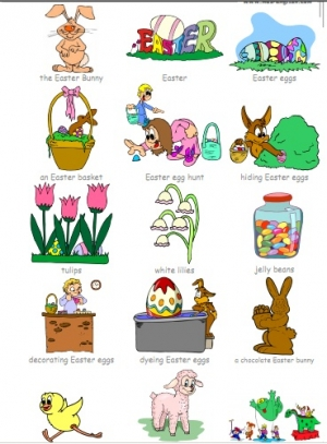 Easter vocabulary - handout