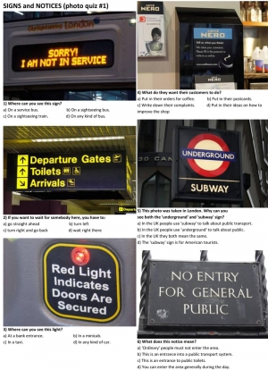 SIGNS and NOTICES (photo quiz 01)