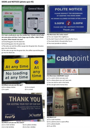 SIGNS and NOTICES (photo quiz 03)