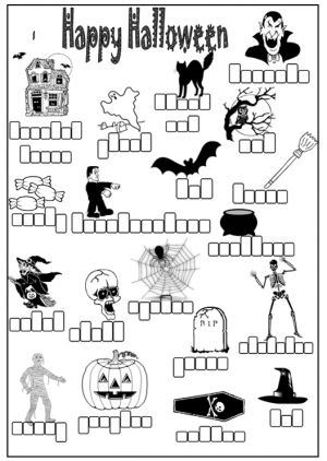 Halloween Spelling Boxes